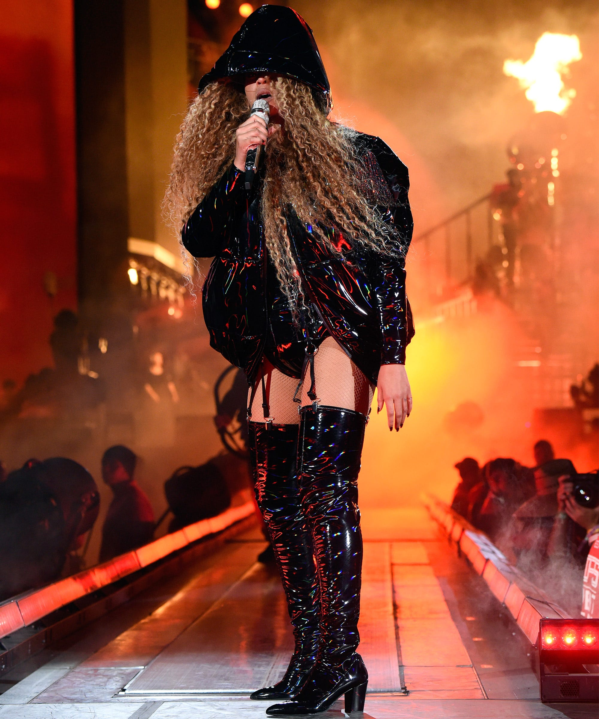 Beyonce Coachella Week 2 Black Balmain