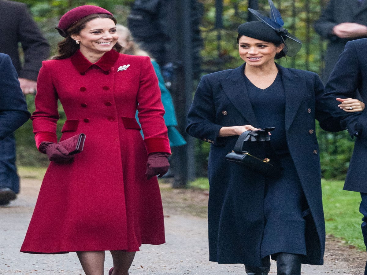 Here s What Meghan Markle & Kate Middleton, All Smiles, Wore To Church On Christmas
