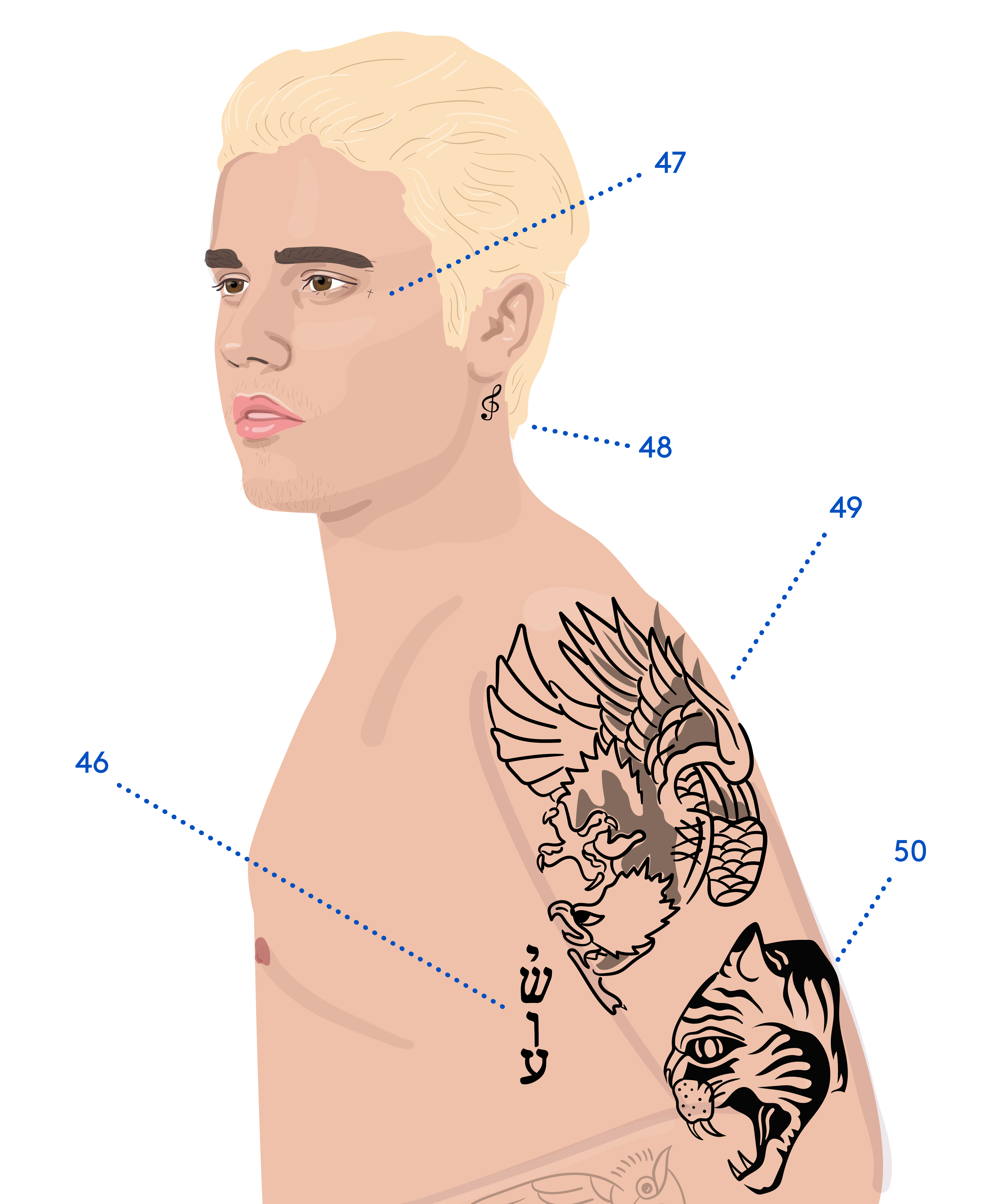 eb3863eed Full Guide To Justin Biebers Tattoos Meaning Birthday