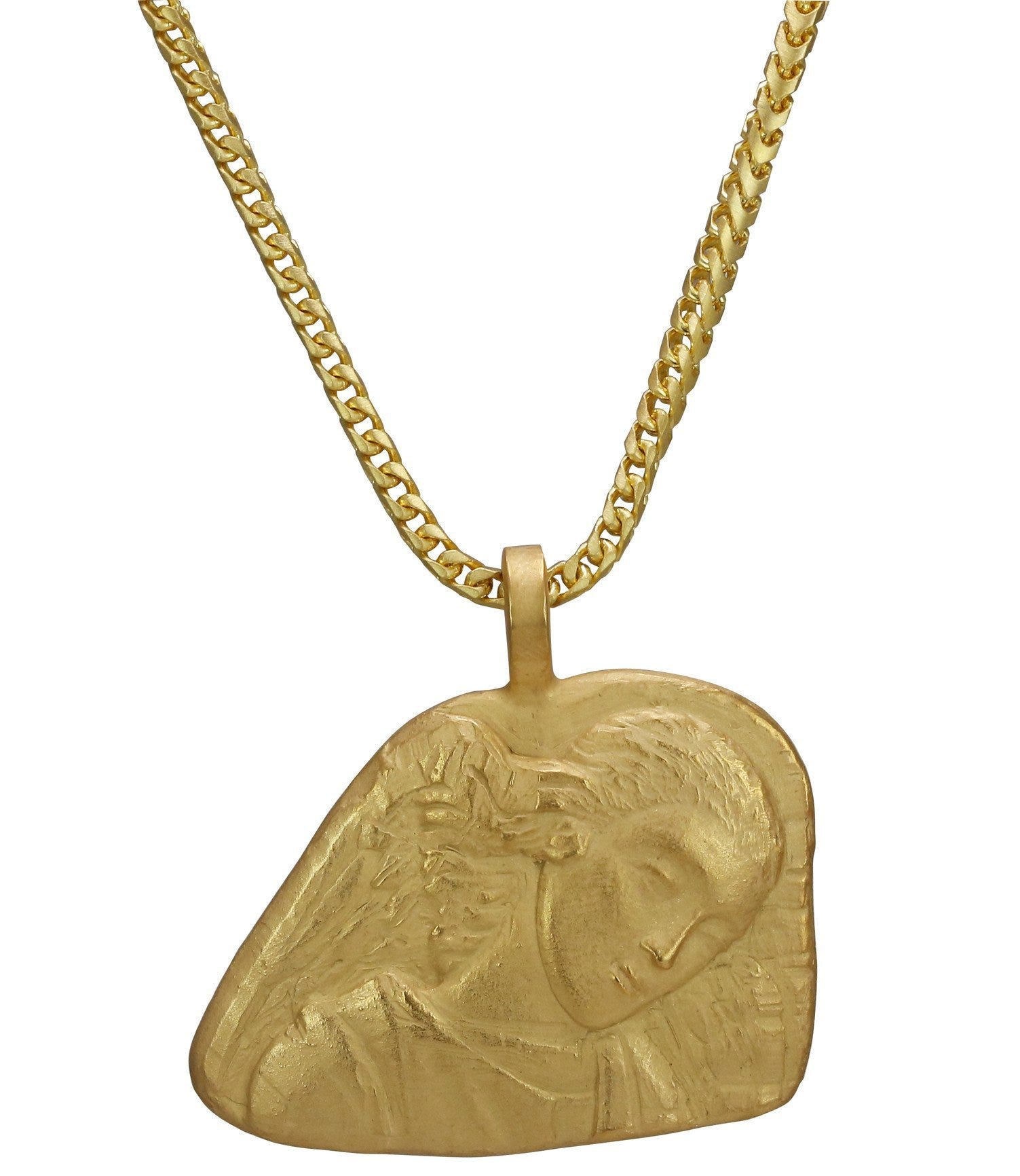 a gold b necklace medallion multi peech peri products chain small