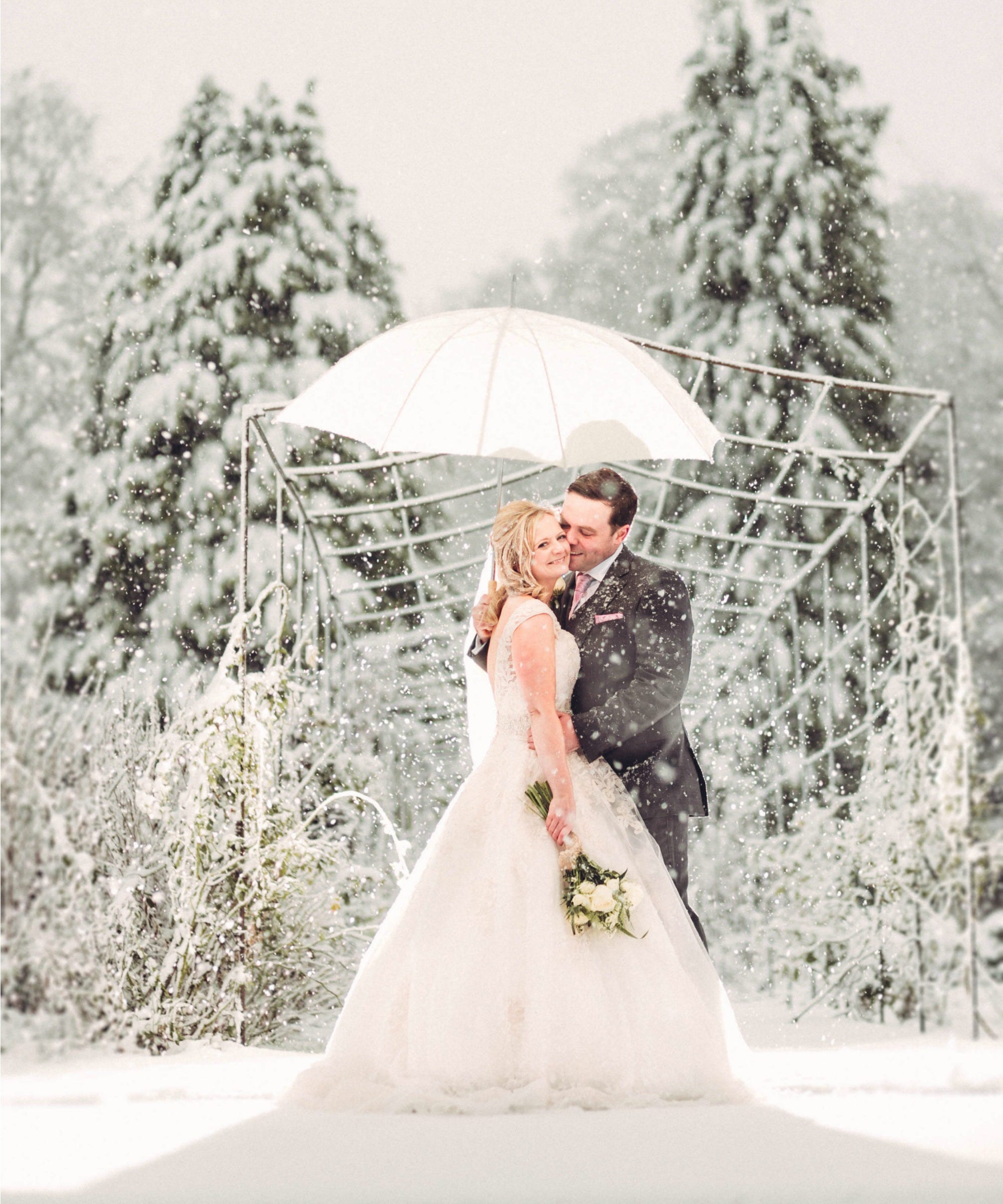 Surprise Snowstorm Creates Magical Photos For Newlyweds