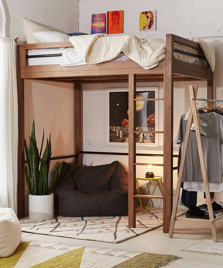 Attractive Loft Bed Ideas Part - 2: 7 Decorating Ideas For Your Grown-Up Loft Bed