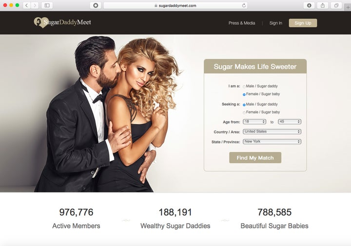 Find a sugar daddy online