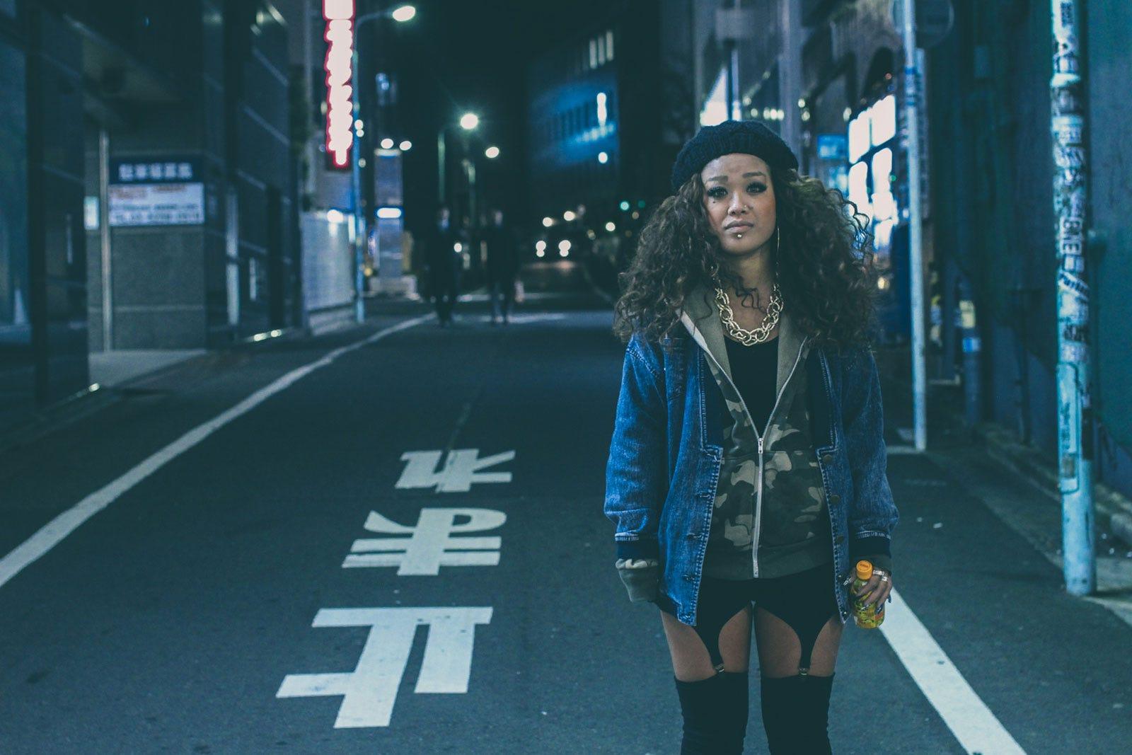 Japanese B-Style Black Face Asian Fashion