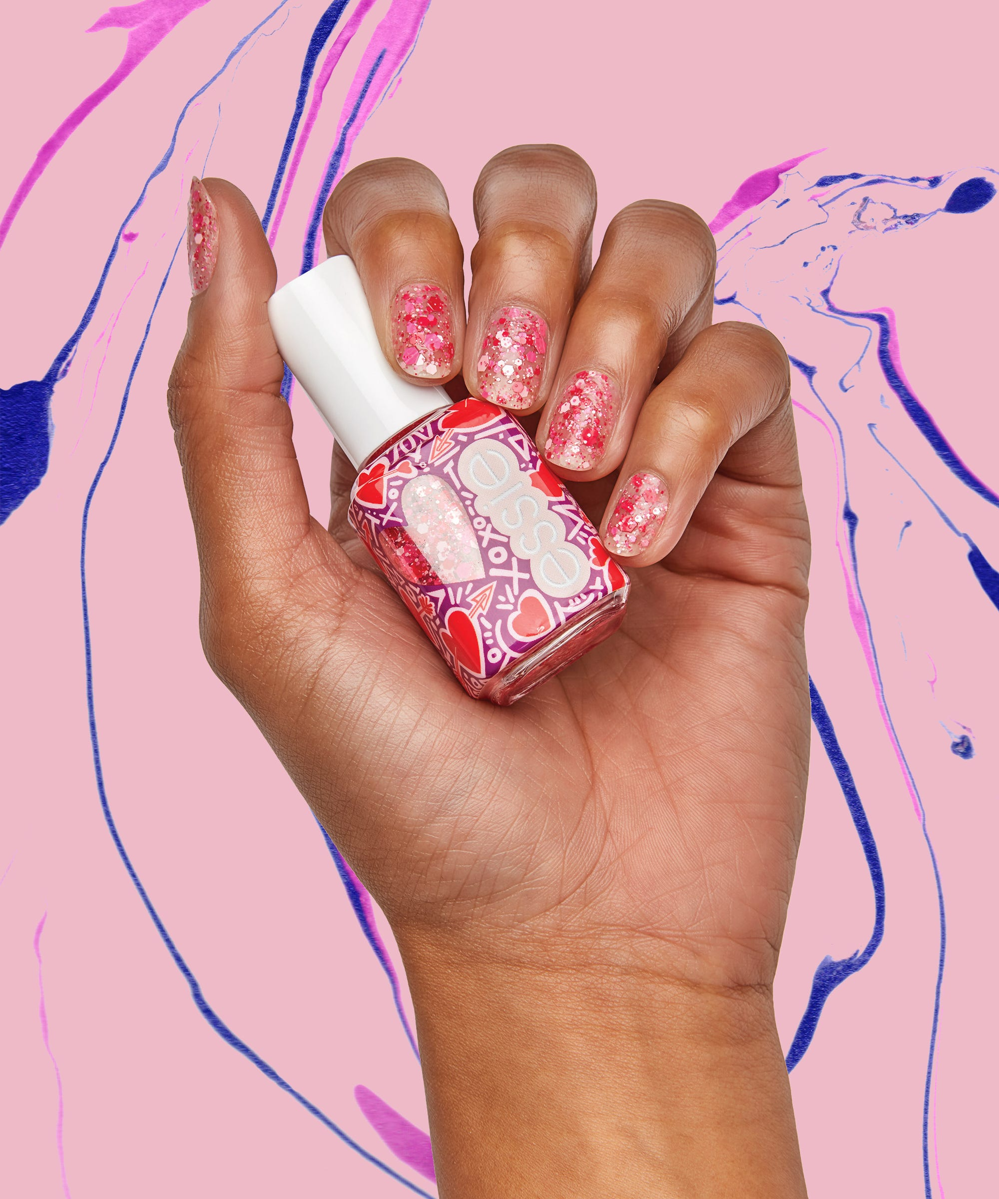Essie's Brand-New Valentine's Day Nail Polishes Are Sparkly, Sweet, & Only $9