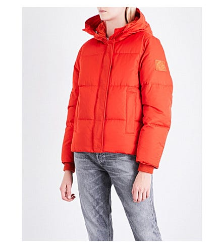 a8754e82d1b0d1 Kenzo. Quilted Hooded Shell-down Jacket.  505.00
