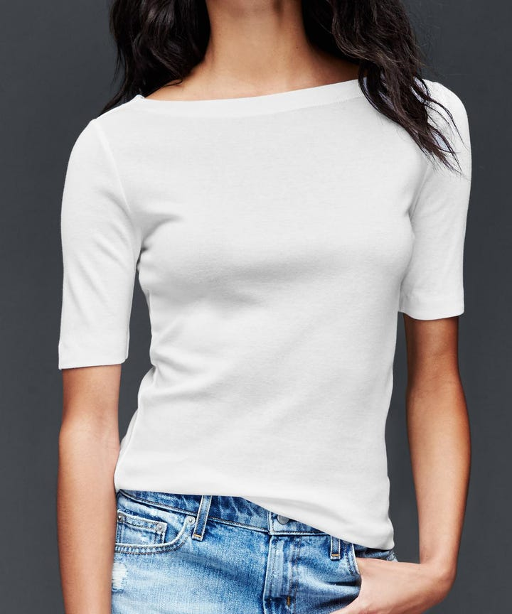 Best Non See Through White T Shirt, Full Coverage Tees