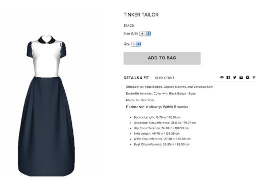 3268cc8360b1 Tinker Tailor - Dress Customization Website