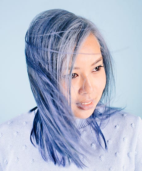 Pastel Hair Tips Black Women Asian Women Style