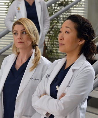 Ellen Pompeo and Sandra Oh