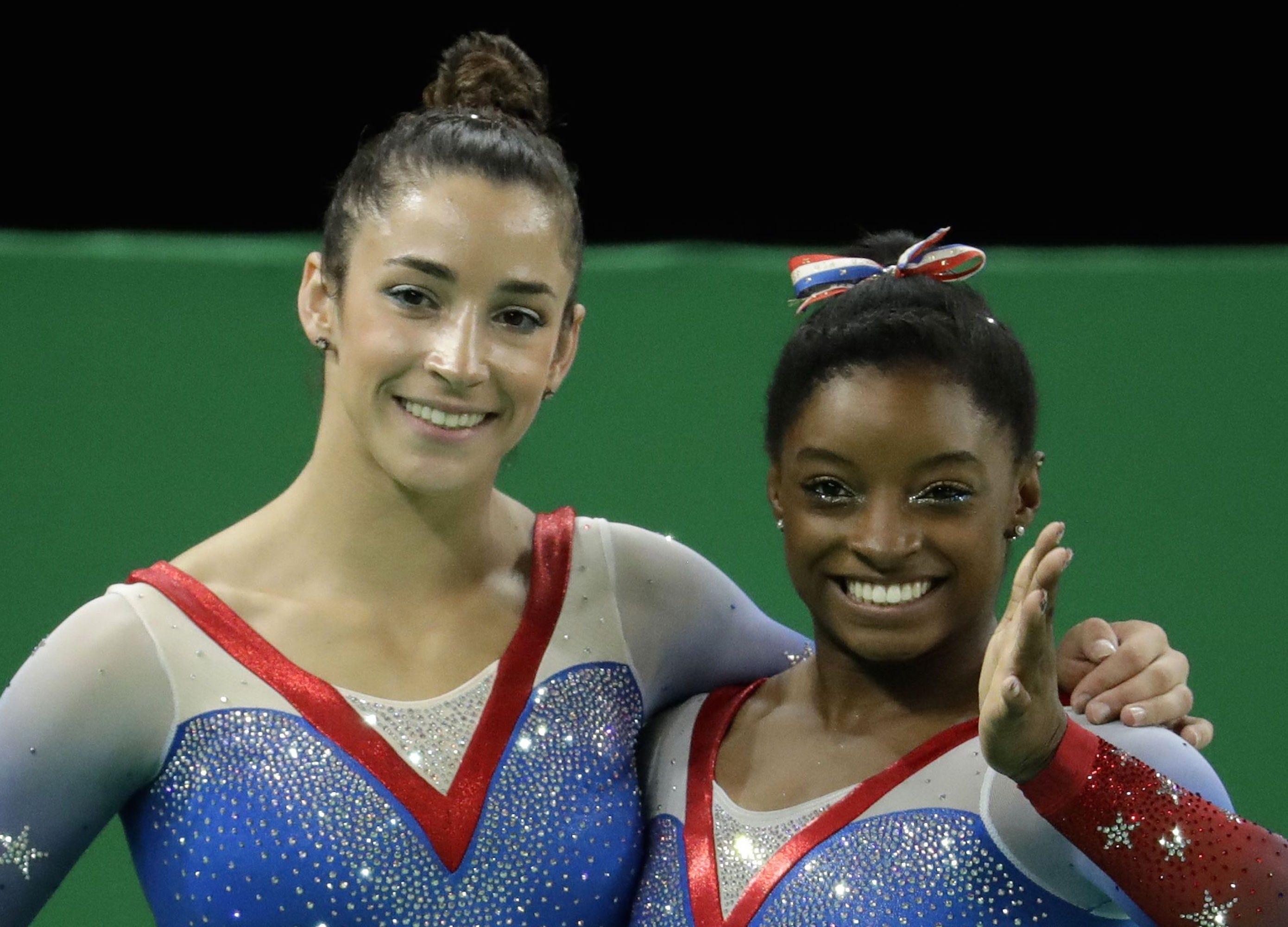 How Simone Biles & Aly Raisman Celebrated Their Olympic Victories
