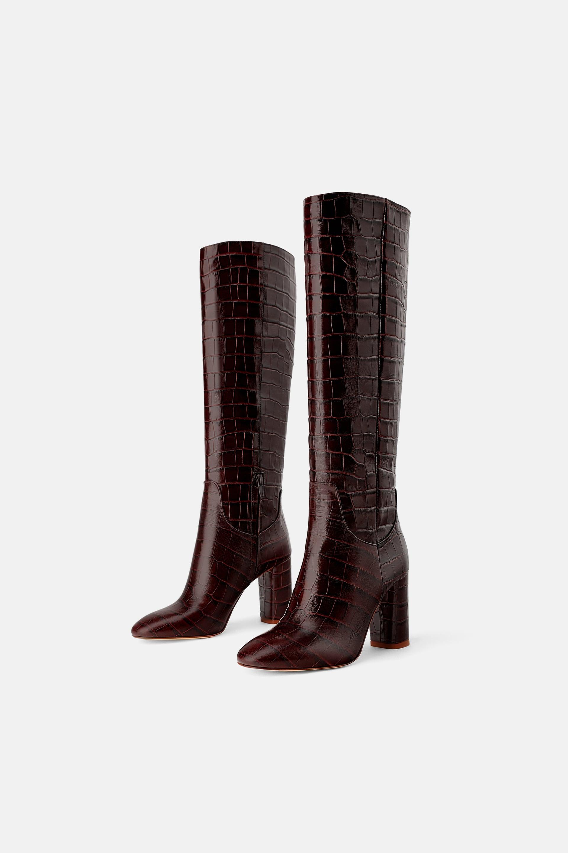 c3465030b82 Heeled Animal Print Boots