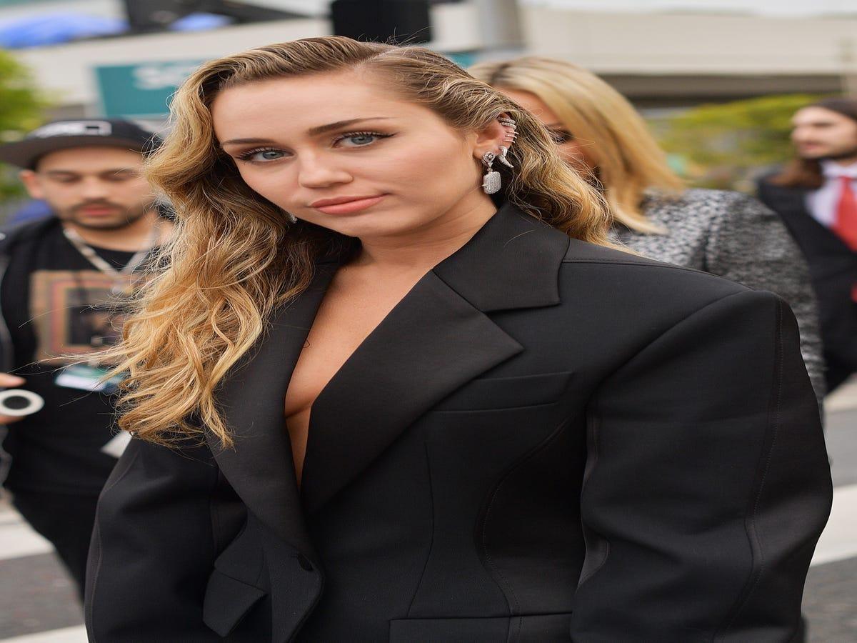 Miley Cyrus Tries Out Baby Bangs Ahead Of The Met Gala