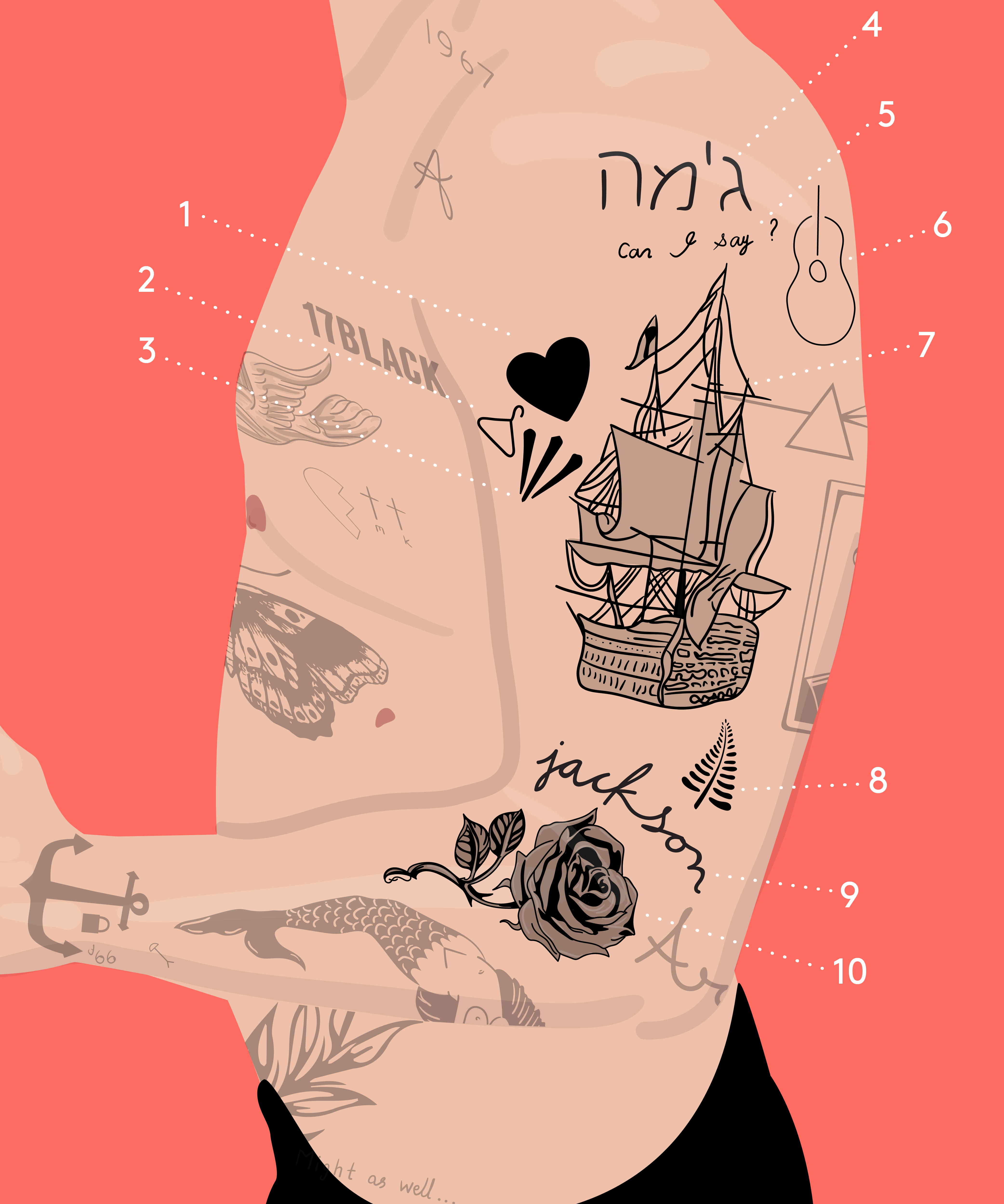 Every Tattoo On Harry Styles Body That Isn T Fake