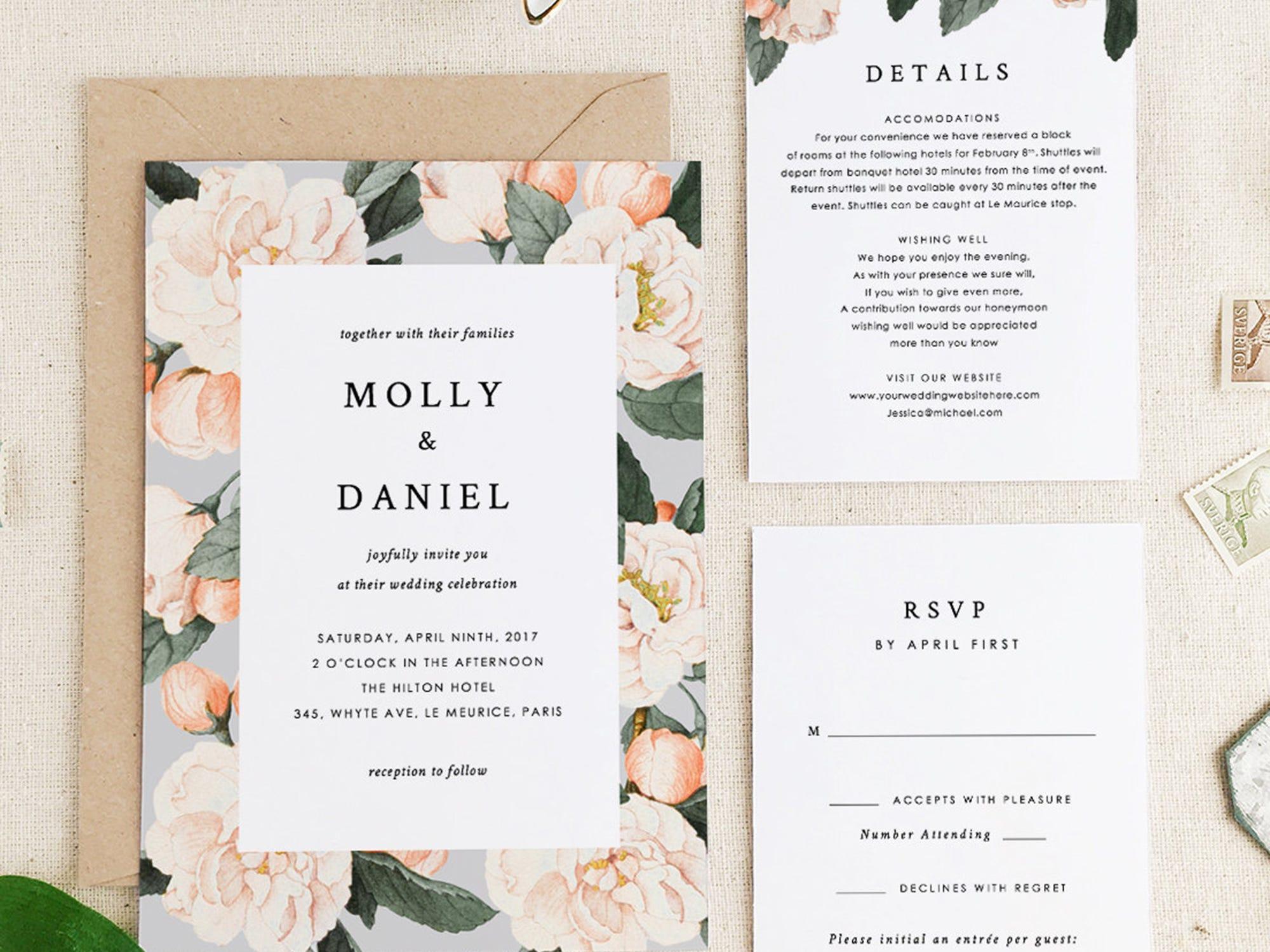 Best Etsy Wedding Invites Stationery Invitations Design