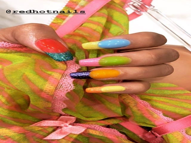 Rihanna Loves Her Skittles Birthday Manicure, For The Record