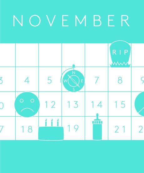 November 2013 Calendar With Holidays