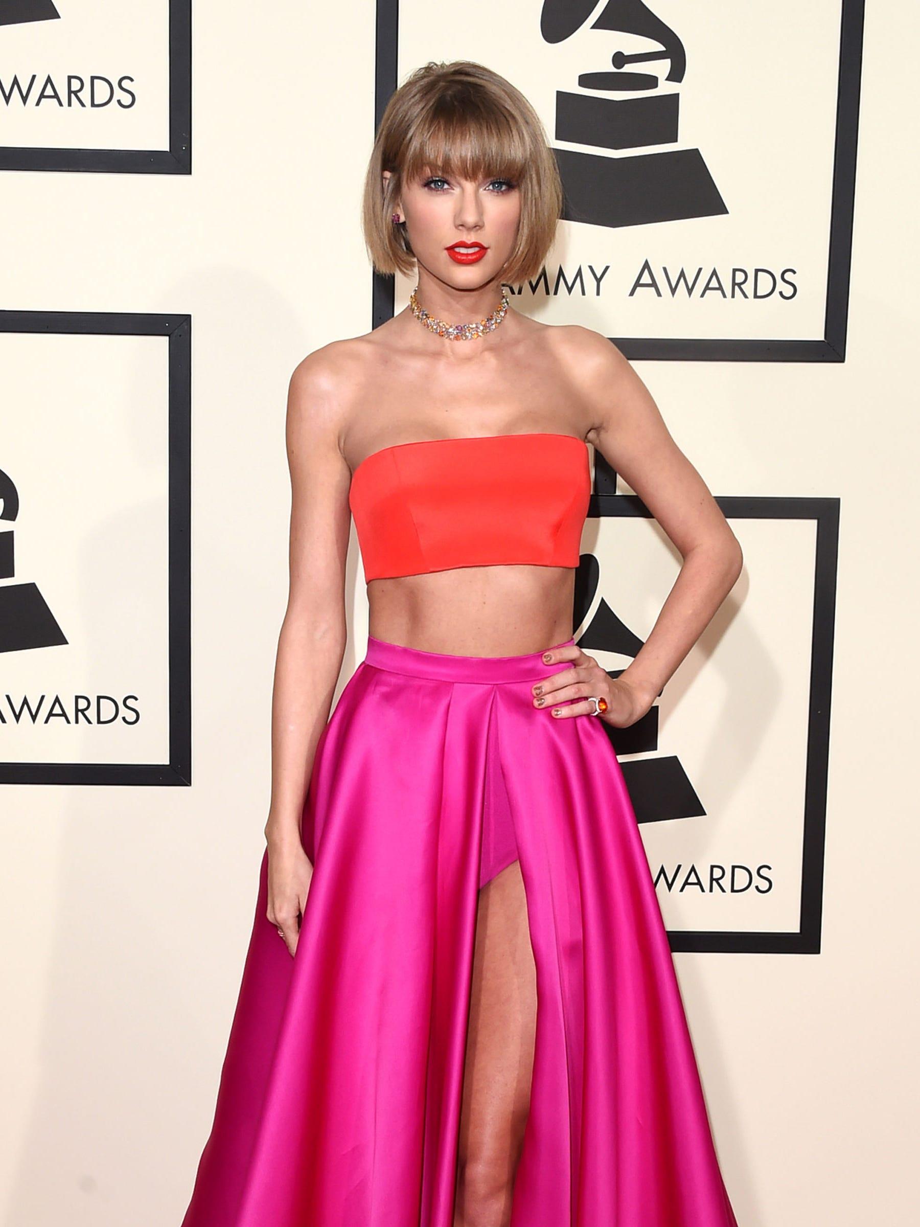 Taylor Swift Atelier Versace Grammys Dress 2016