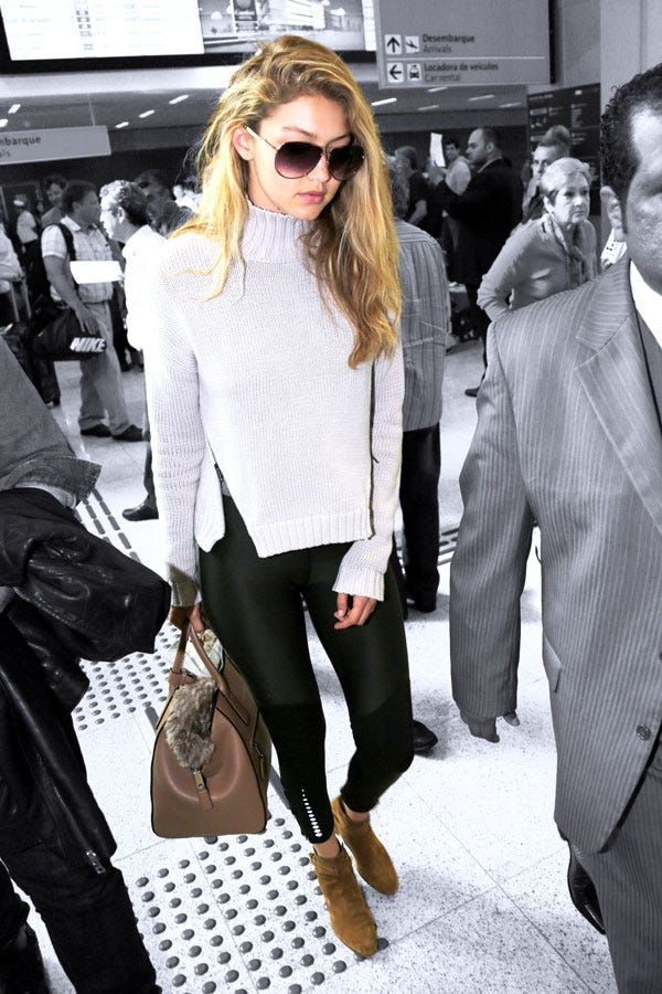 Gigi Hadid Wears Leggings On A Flight It Actually Works