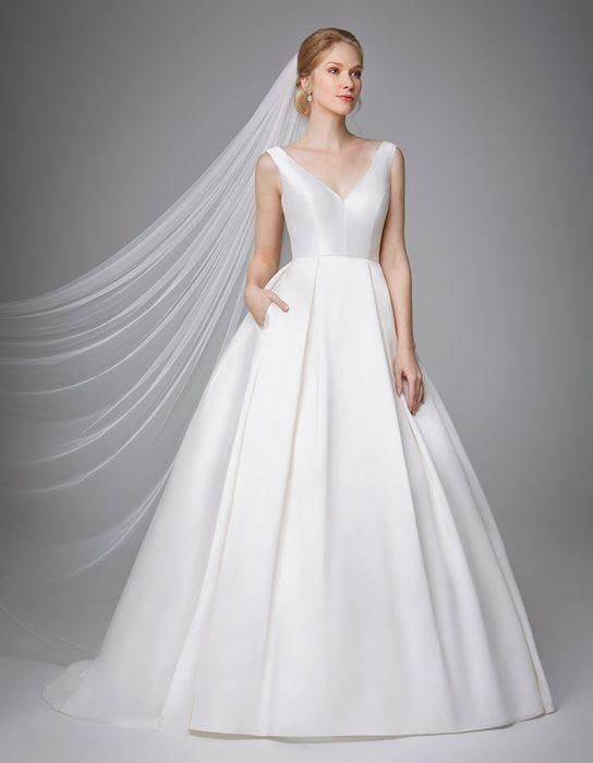 Wedding Dress With Pockets.Porsha Dress