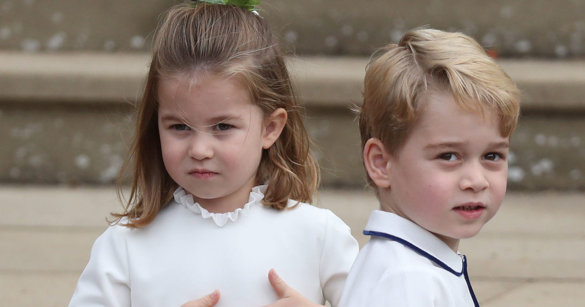 Prince George & Princess Charlotte's Antics Stole The Show At The Royal Wedding