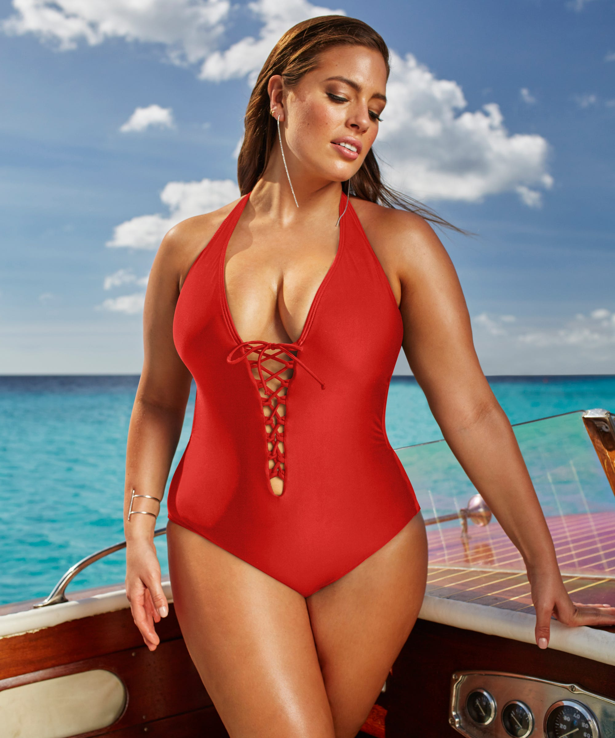 3f5fae6dce Ashley Graham Swimsuitsforall Plus Size Swim Collection