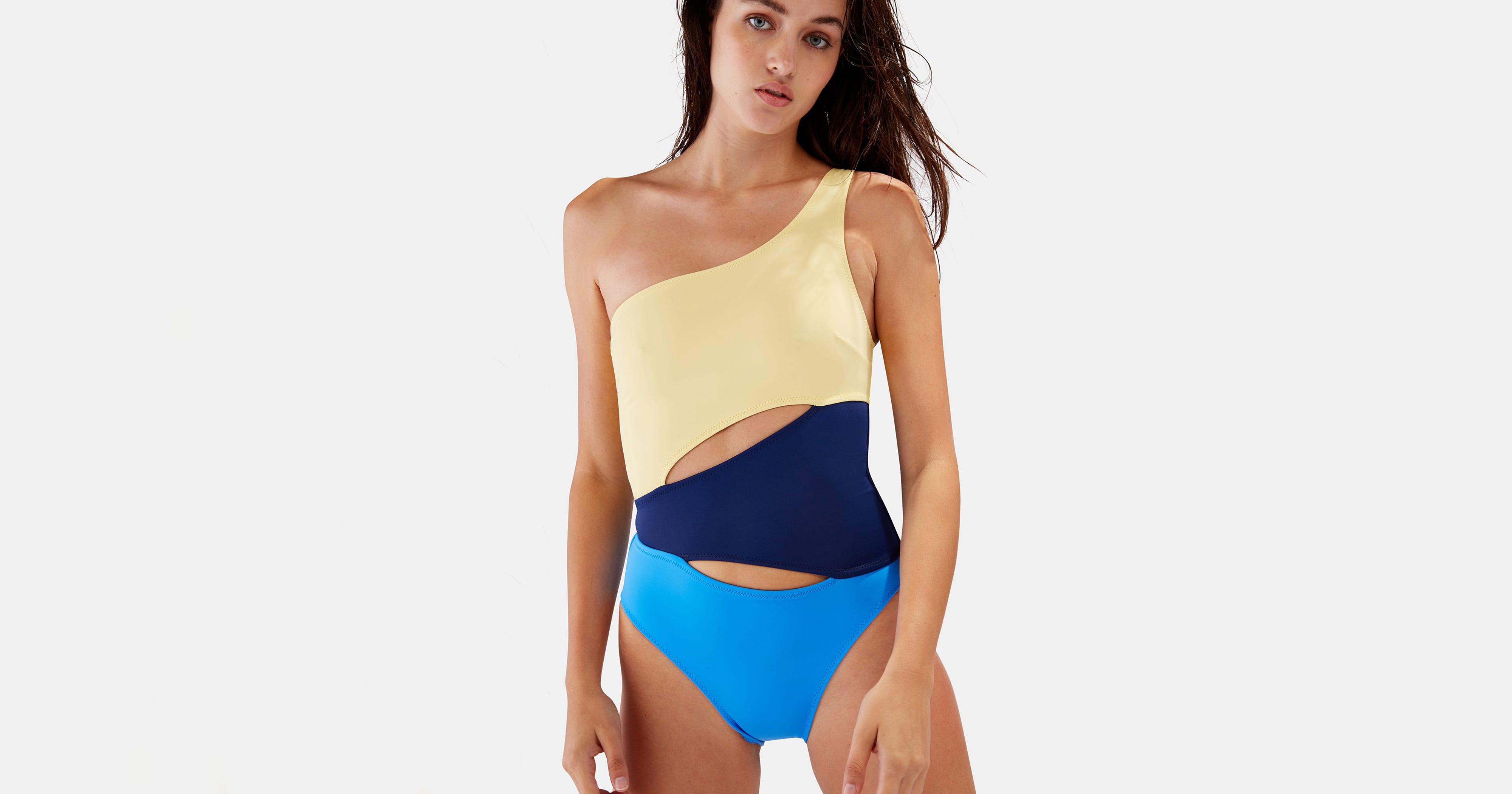 497fe18997c Cute One Shoulder Swimsuits And Bikinis For Summer 2018