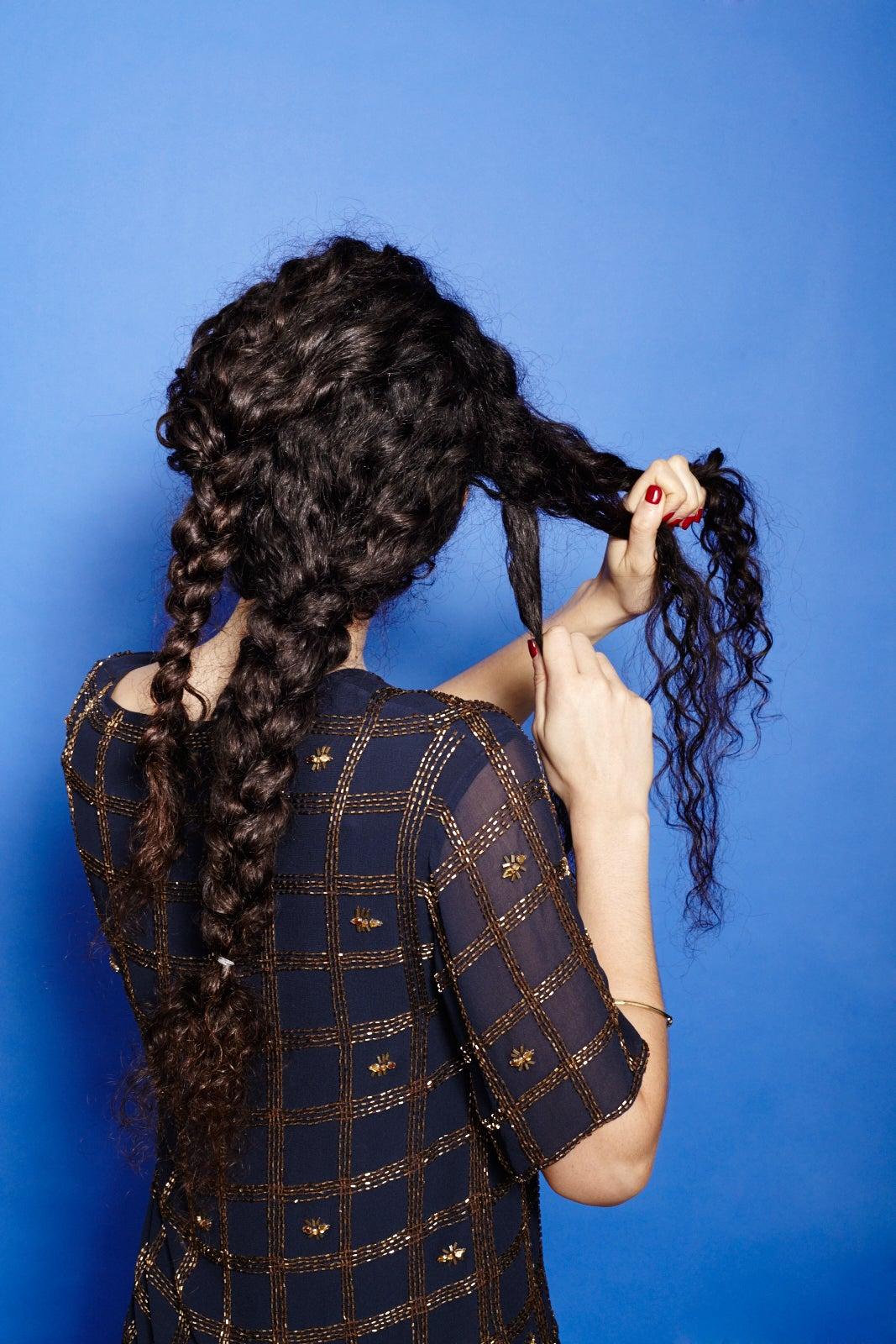 How To Braid Curly Hair Cute Plait Styles