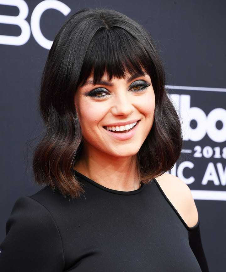 Mila Kunis Bangs Made Their Debut At The Bbmas