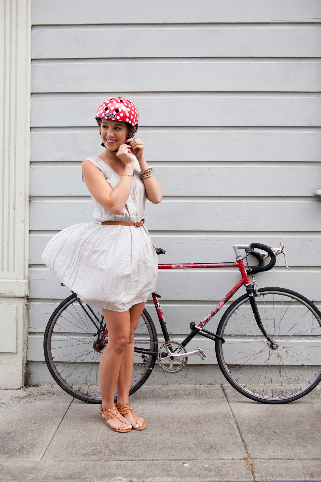 what to do with bicycling helmet hair