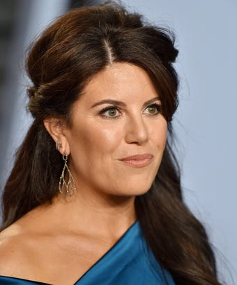 Monica Lewinsky at the Vanity Fair Oscar Party