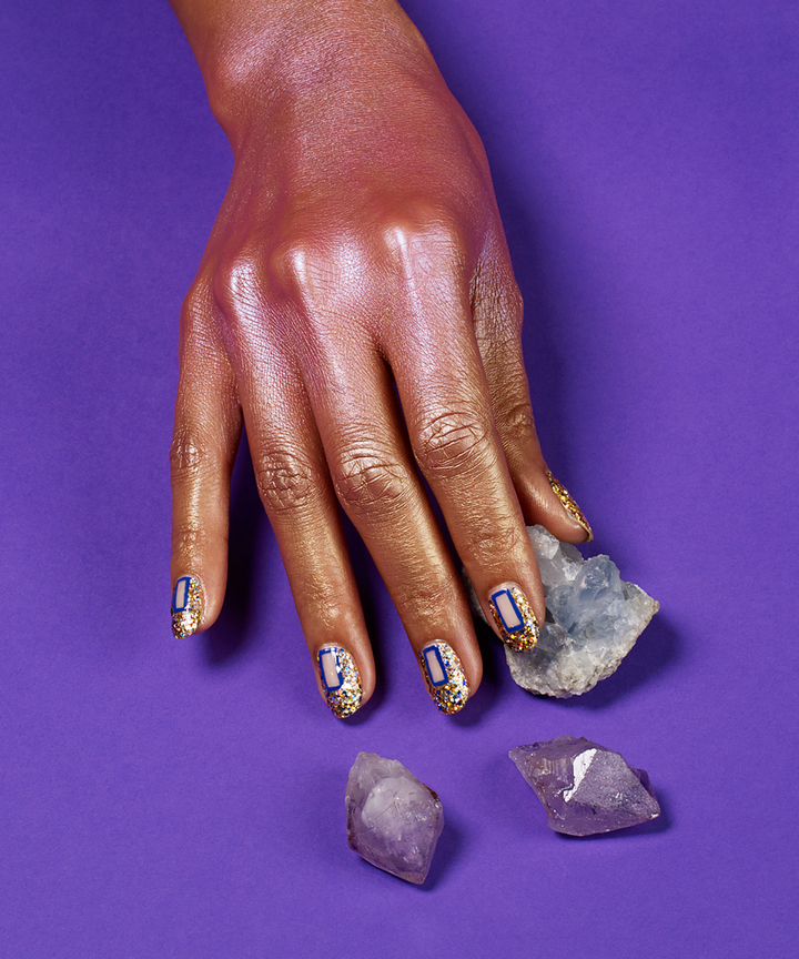 Geode Manicure Trend - Instagram Crystal Nail Designs
