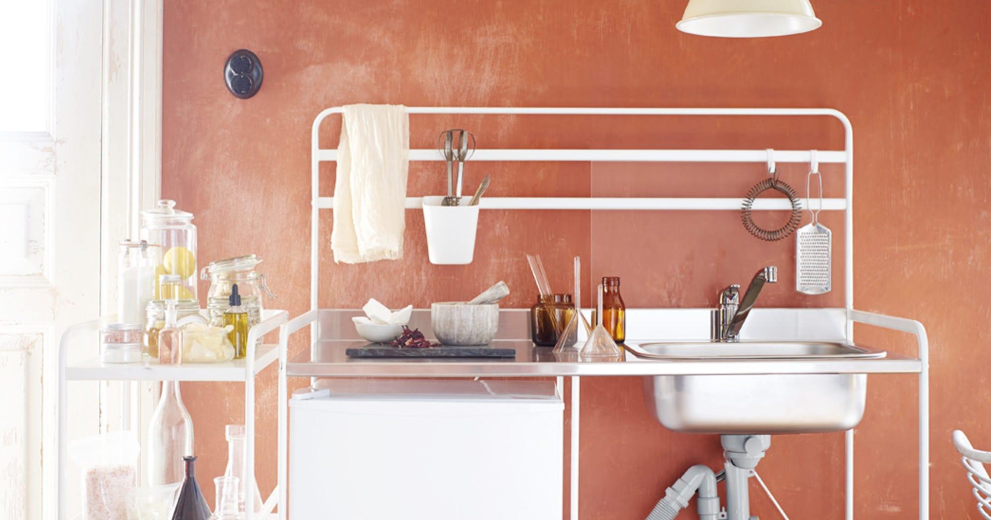 Mini küchenzeile ikea  Ikea Sunnersta Mini-Küche für 100€