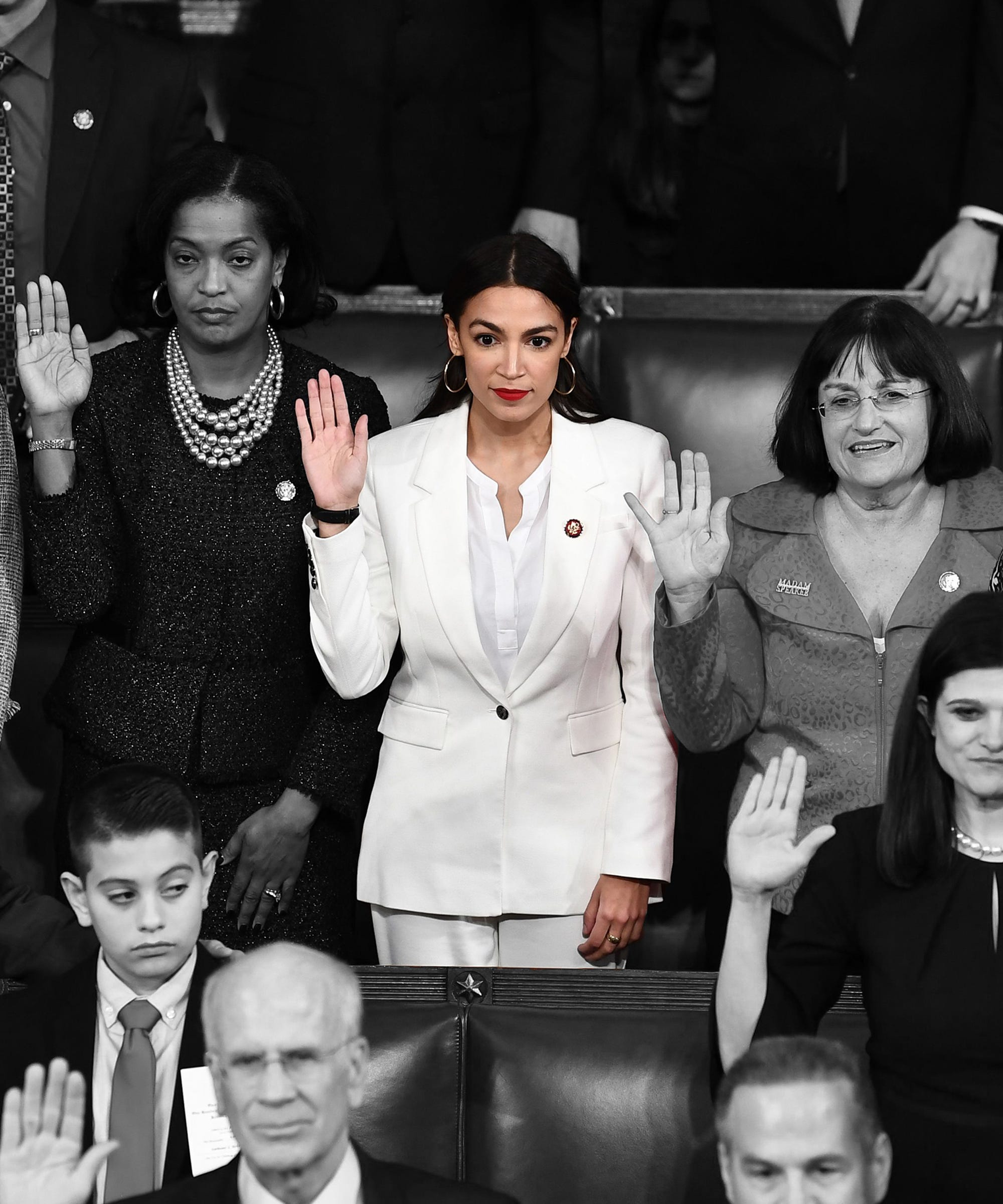 Is This Why Alexandria Ocasio-Cortez Wore All-White For Her Swearing In?