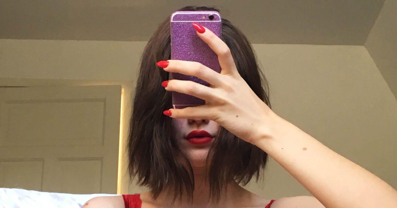 selfie nackt von hinten
