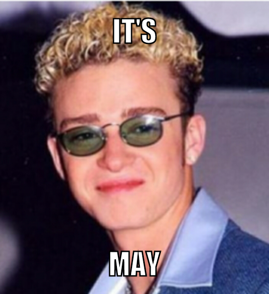 image justin timberlake gonna be may meme joke