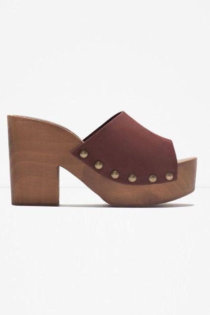 125eb64d86f588 Zara. Leather Studded Clogs