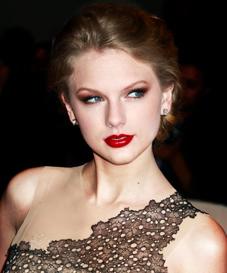Taylor Swift Red Lipstick Looks To Try