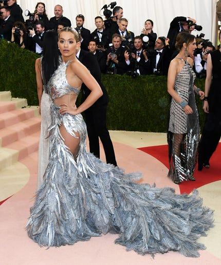 Rita Ora Dress Beyonce Met Gala 2016 Vera Wang