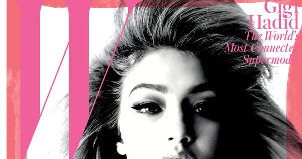 """Exclusive: Gigi Hadid Nabs W's September Cover For Being """"Spectacularly Connected"""""""