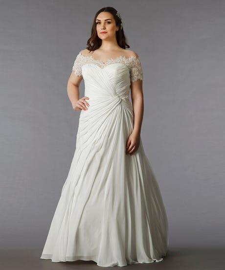 Plus Sized Wedding Dresses-Flattering Styles