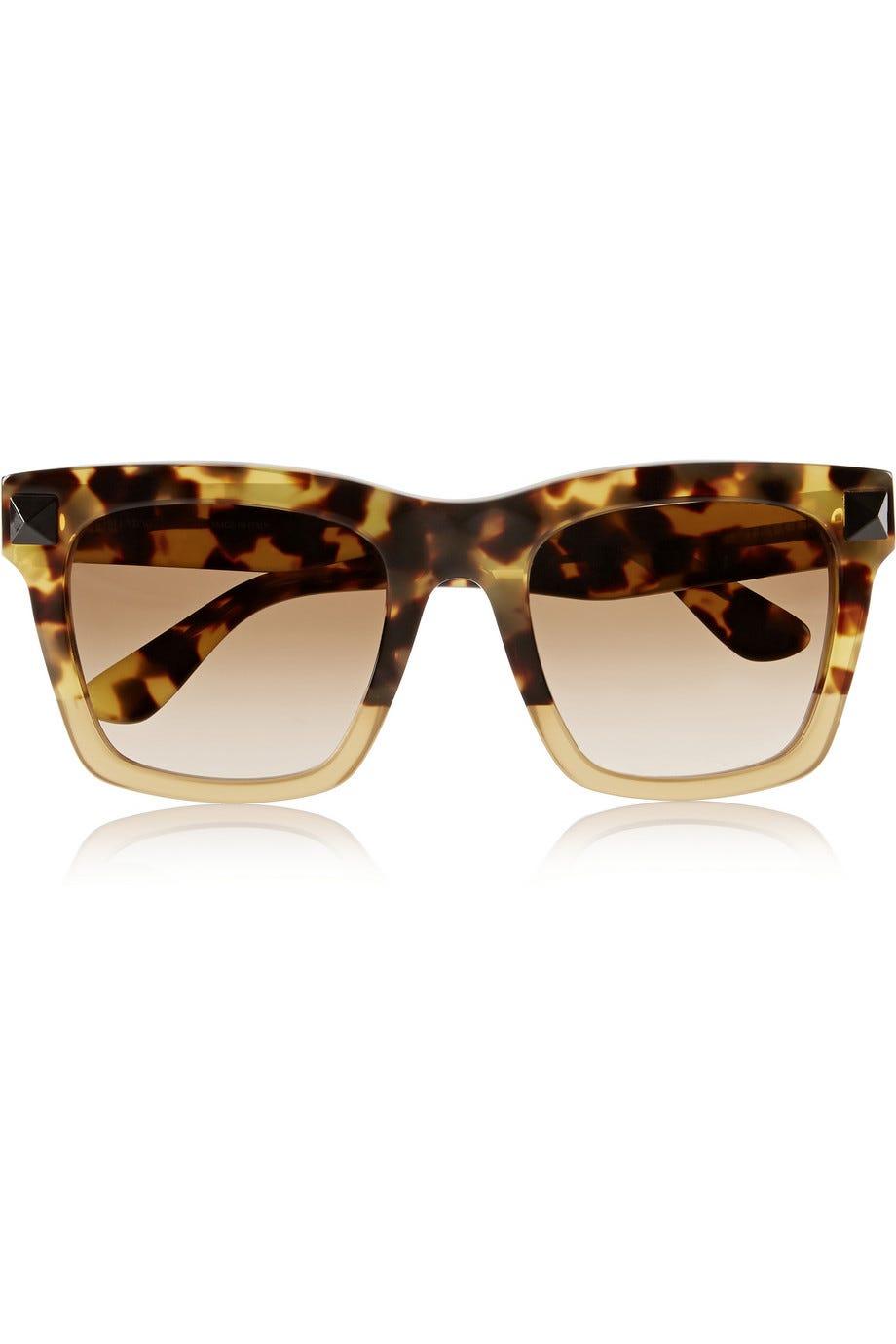 Valentino + D-frame Acetate Sunglasses