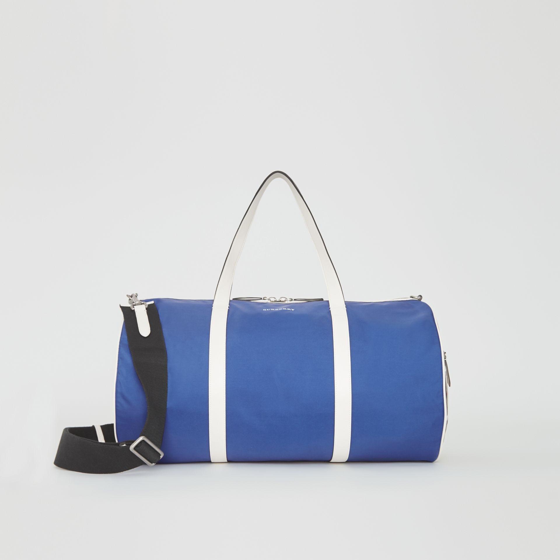 435b5bcc1e21 Burberry. Large Color Block Vintage Check Barrel Bag
