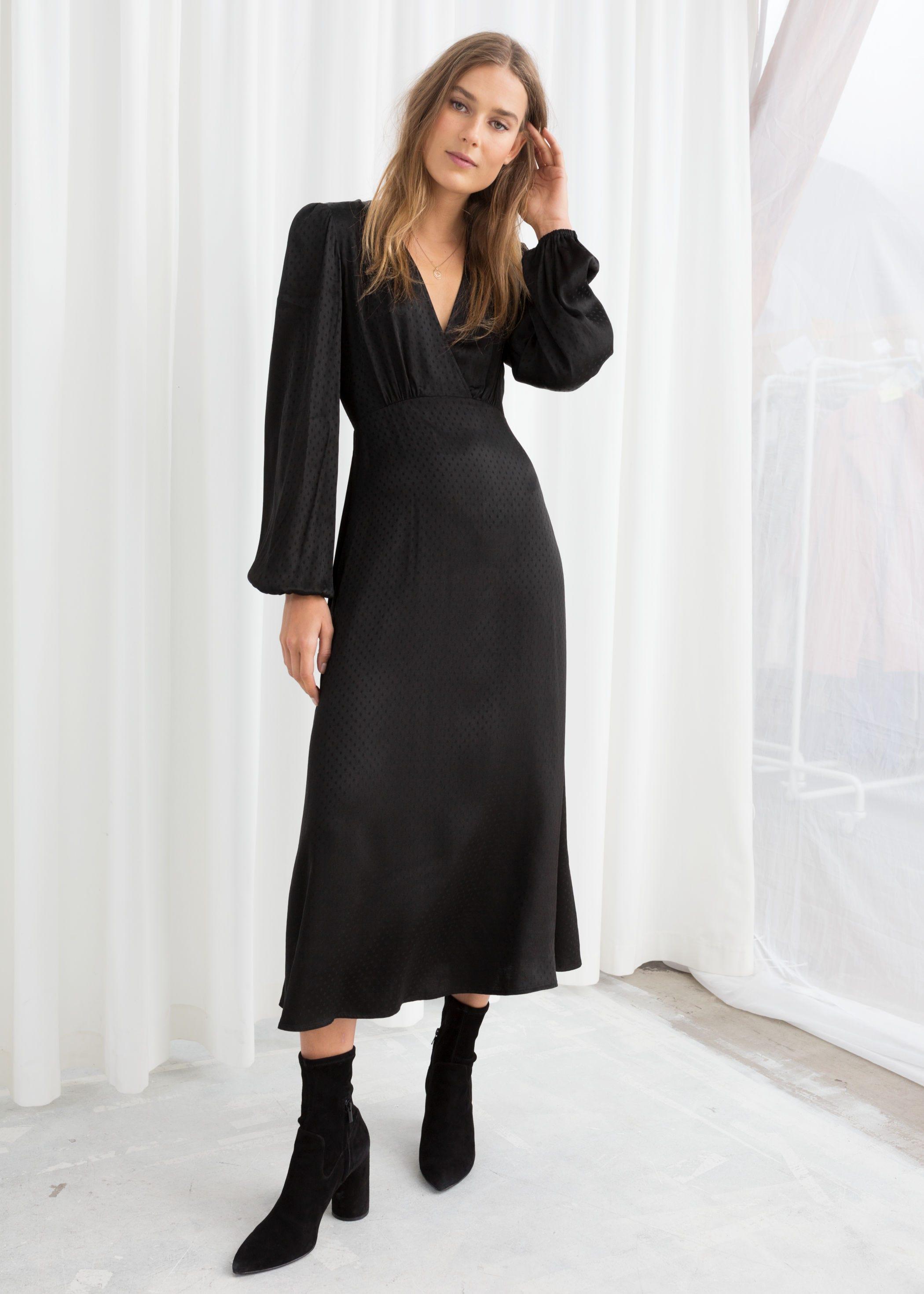 9020907be2 Other Stories. Jacquard Empire Midi Dress