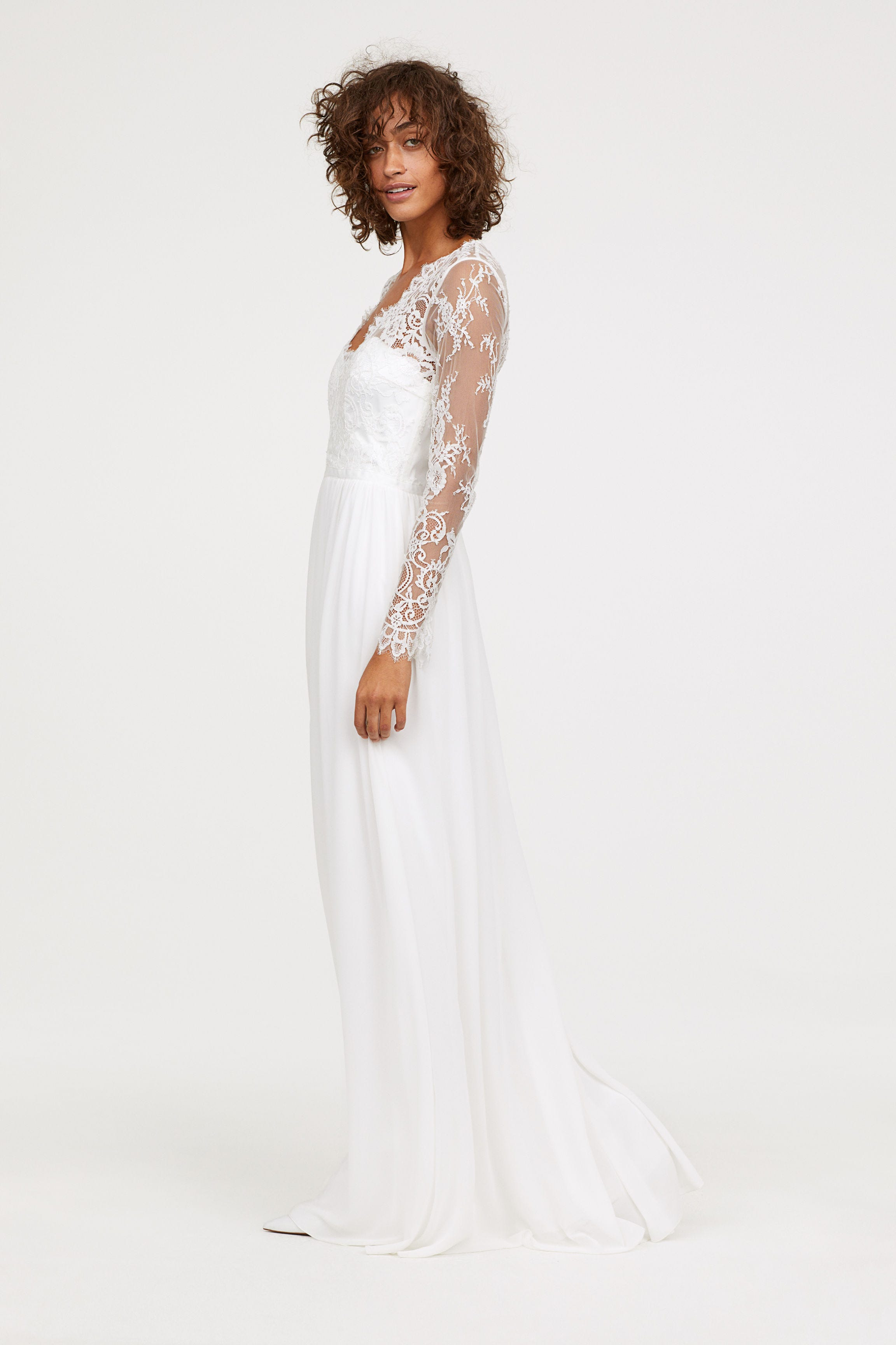 H M Long Lace Dress