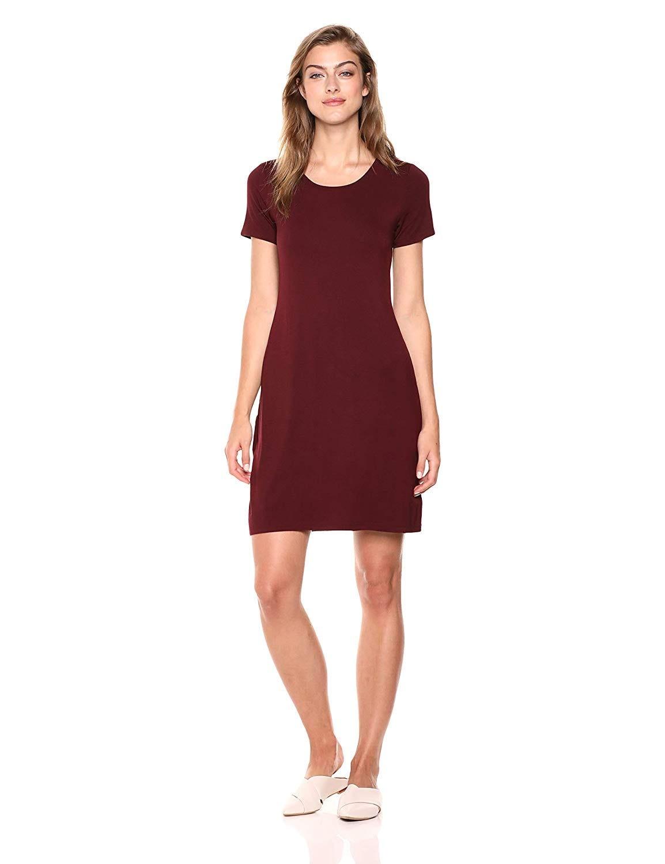 9c63844874298 Jersey Short-Sleeve Scoop Neck T-Shirt Dress