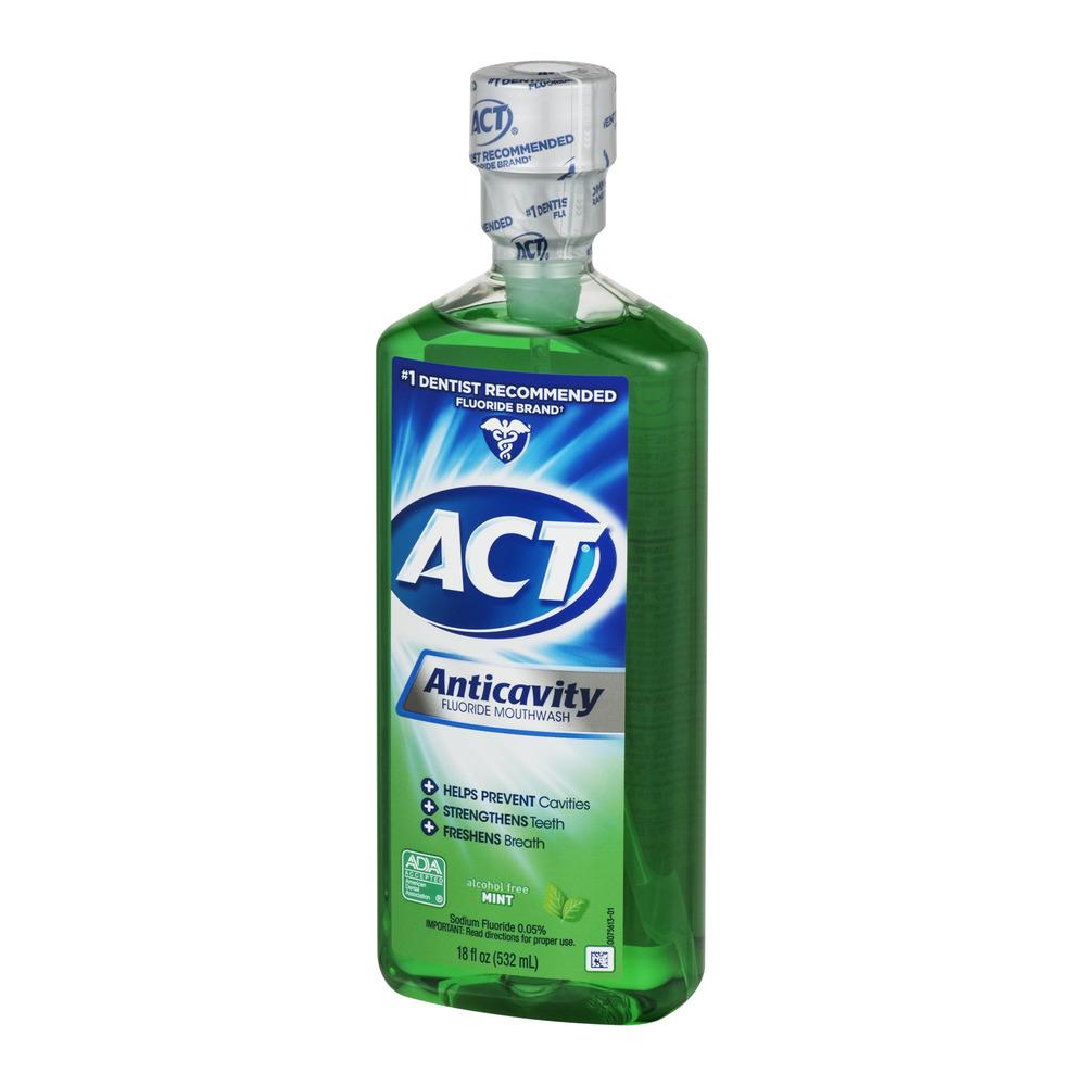 Act ACT Rince-bouche au fluorure anticavité à la menthe, 18 oz