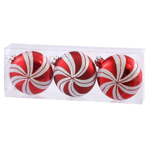 Peppermint Twist Christmas Ornaments (3-count)