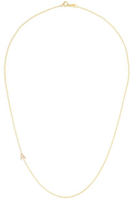 14K Gold Asymmetrical Letter Necklace