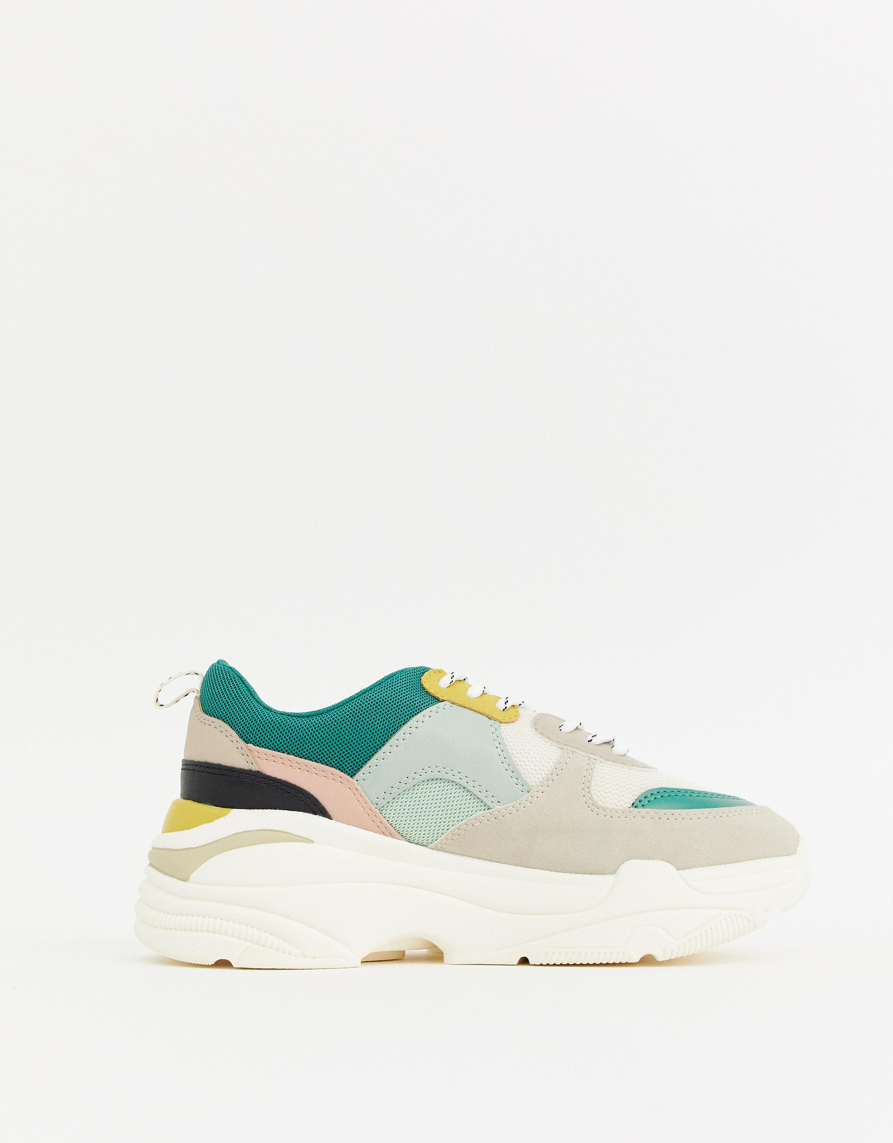 online retailer 49ae5 b807a Color Block Chunky Sneaker